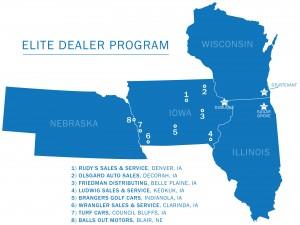 Harris Golf Cars Elite Dealer map