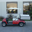 Golf Car with Cooler Unit