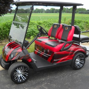 Custom Blackhawks Golf Car-Iowa, Illinois, Wisconsin, Nebraska-Harris Golf Cars