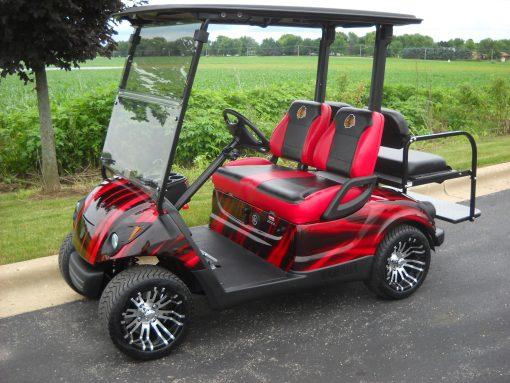 Custom Blackhawks Golf Car-Iowa, Illinois, Wisconsin, Nebraska-Harris Golf Cars
