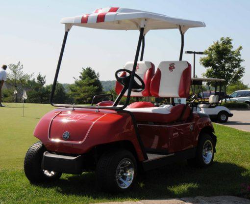 Wisconsin Badger Custom Golf Car by Harris Golf Cars