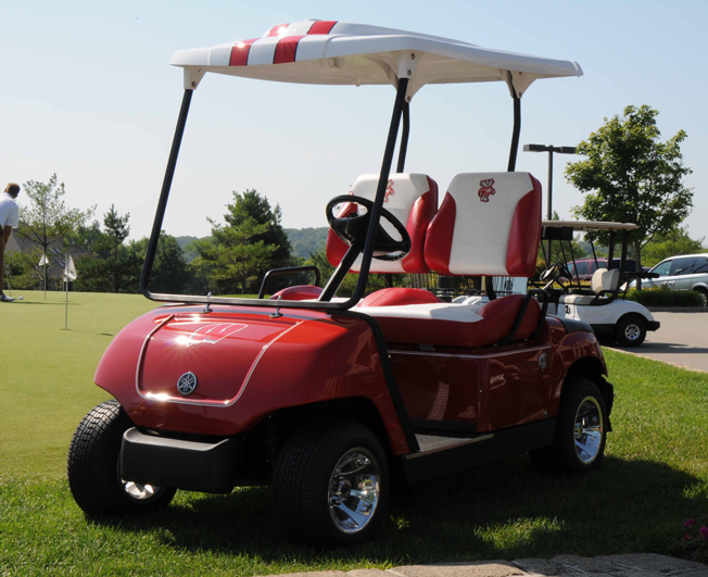Wisconsin Badger Custom Golf Car by Harris Golf Cars