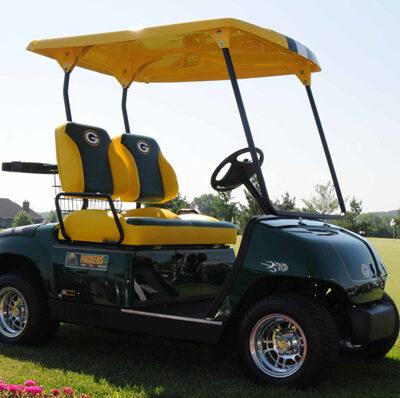 Wisconsin Packers Custom Golf Car by Harris Golf Cars
