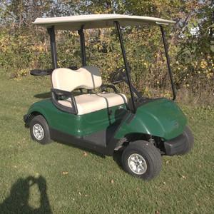 Used Yamaha Emerald Green Golf Car-Iowa, Illinois, Wisconsin, Nebraska-Harris Golf Cars
