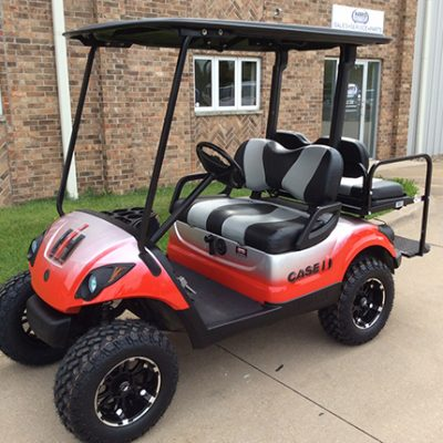 Used Yamaha Custom Case IH Gas Golf Car-Iowa, Illinois, Wisconsin, Nebraska-Harris Golf Cars