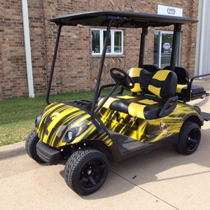 Used Yamaha Custom Iowa Hawkeye Golf Car-Iowa, Illinois, Wisconsin, Nebraska-Harris Golf Cars