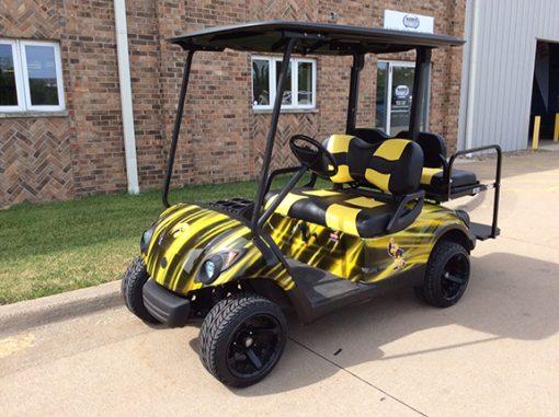 Used Yamaha Custom Iowa Hawkeye Golf Car-Iowa, Illinois, Wisconsin, Nebraska-Harris Golf Cars