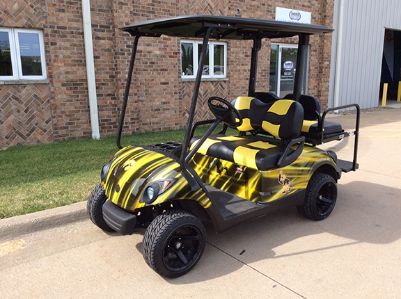 iowa hawkeye golf car harris golf cars. Black Bedroom Furniture Sets. Home Design Ideas
