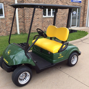 Used Yamaha Custom John Deere Gas Golf Car-Iowa, Illinois, Wisconsin, Nebraska-Harris Golf Cars
