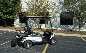 Used Yamaha Custom Black and White Golf Car-Iowa, Illinois, Wisconsin, Nebraska-Harris Golf Cars