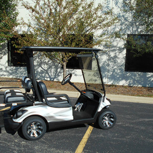 Used Yamaha Custom Black and White Golf Car-Iowa, Illinois, Wisconsin, Nebraska-Harris Golf Cars