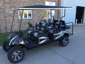 6 passenger golf car-Iowa, Illinois, Wisconsin, Nebraska-Harris Golf Cars