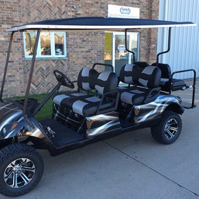 6 passenger golf car-Iowa, Illinois, Wisconsin, Nebraska-Harris Golf Cars