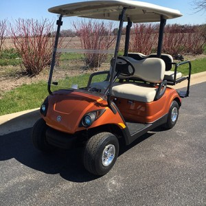 atomic orange gas golf cart-Harris Golf Cars-Iowa, Illinois, Wisconsin, Nebraska