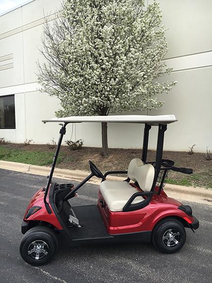 2007 jasper red golf cart-Harris Golf Cars-Iowa, Illinois, Wisconsin, Nebraska