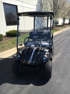 custom silver swirl golf cart-Harris Golf Cars-Iowa, Illinois, Wisconsin, Nebraska