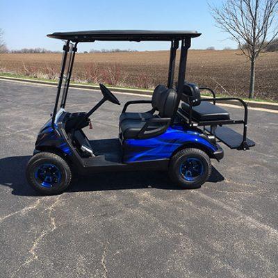 2011 custom blue and black 4 passenger golf cart-harris golf cars-Iowa, Illinois, Wisconsin, Nebraska