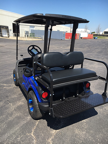 2011 custom blue and black 4 passenger golf cart-harris golf cars-Iowa, Illinois, Wisconsin, Nebraska