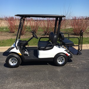 48V Electric White Golf Cart-Harris Golf Cars-Iowa, Illinois, Wisconsin, Nebraska