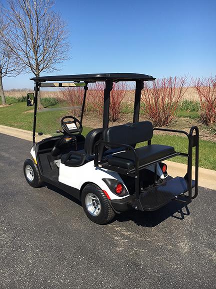 48V Electric White Golf Cart-Harris Golf Cars-Iowa, Illinois, Wisconsin, Nebraska