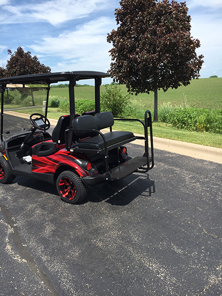 chicago blackhawks golf cart-harris golf cars-Iowa, Illinois, Wisconsin, Nebraska