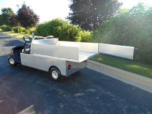 extended bed Yamaha Electric Hauler-harris golf cars