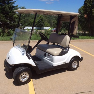 glacier white electric golf car-Harris Golf Cars-Iowa, Illinois, Wisconsin, Nebraska