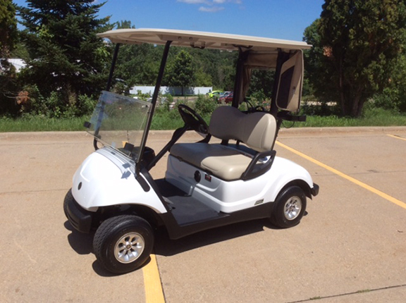 Yamaha Drive Glacier White Electric Golf Car Harris Golf Cars