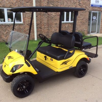 citrine yellow gas golf car-Harris Golf Cars-Iowa, Illinois, Wisconsin, Nebraska