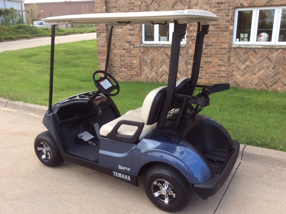 2018 Yamaha Drive 2 Blue Stone with QuieTech EFI Golf Car - Harris on