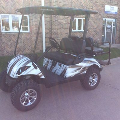 2008 Custom White and Gray-Harris Golf Cars-Iowa, Illinois-Wisconsin, Nebraska