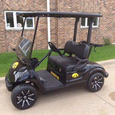 Iowa Hawkeye Golf Car-Harris Golf Cars-Iowa, Illinois, Wisconsin, Nebraska