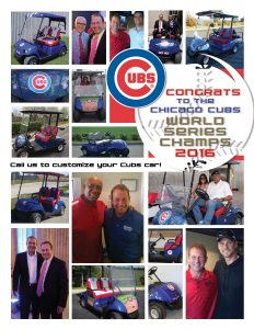 Custom Chicago Cubs Golf Cars