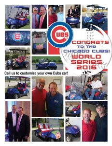 Chicago Cubs Custom Golf Cars
