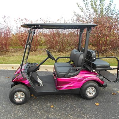 Pink Swirl Gas Golf Car-Harris Golf Cars-Iowa, Illinois, Wisconsin, Nebraska