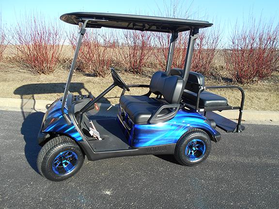 Black and Blue Swirl-Harris Golf Cars-Iowa, Illinois, Wisconsin, Nebraska