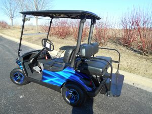 Black and Blue Swirl-Harris Golf Cars-Iowa, Illinois, Wisconsin, Nebraska