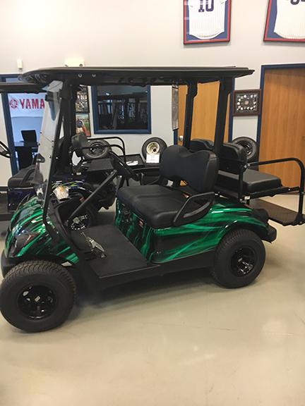 Black and Green Swirl-Harris Golf Cars-Iowa, Illinois, Wisconsin, Nebraska