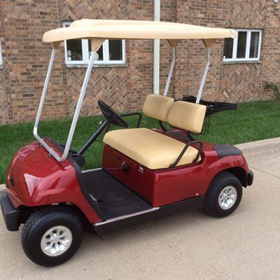 Candy Apple Red Golf Car-Harris Golf Cars-Iowa, Illinois, Wisconsin, Nebraska