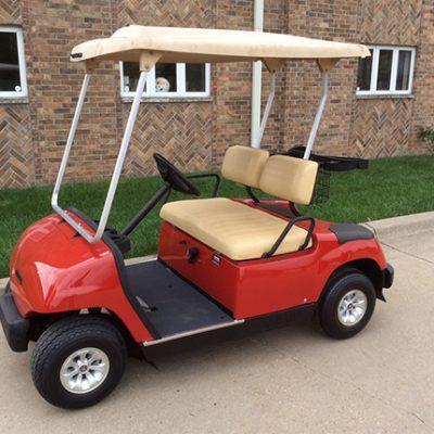 1998 Bright Red Golf Car- Harris Golf Cars-Iowa, Illinois, Wisconsin, Nebraska