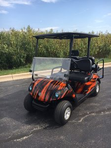 2007 Custom Black and Orange Swirl-Harris Golf Cars-Iowa, Illinois, Wisconsin, Nebraska