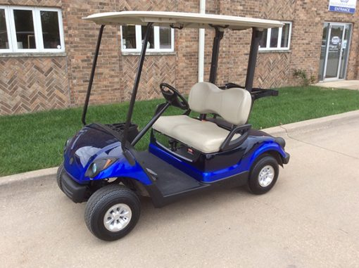blue fade golf car-Harris Golf Cars-Iowa, Illinois, Wisconsin, Nebraska