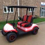 2013 Custom Red White-Harris Golf Cars-Iowa, Illinois, Wisconsin, Nebraska