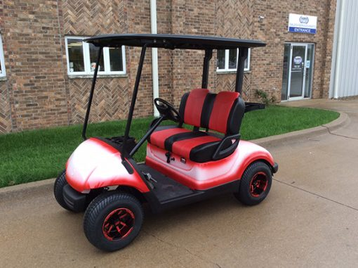 2013 Custom Red White-Harris Golf Cars-Iowa, Illinois, Wisconsin, Nebraska