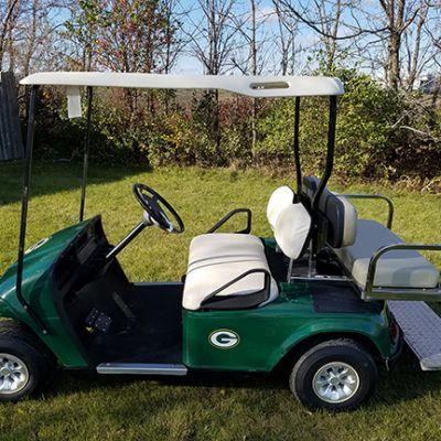 E-Z-Go Electric Packers Golf Car-Harris Golf Cars-Iowa, Illinois, Wisconsin, Nebraska