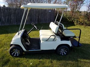Yamaha Ivory Electric Golf Car-Harris Golf Cars-Iowa, Illinois, Wisconsin, Nebraska