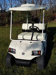 Yamaha Ivory Electric Golf Car-Harris Golf Cars-Iowa, Illinois, Wisconsin, Nebraska