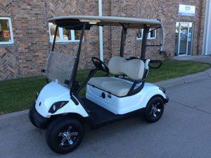 Glacier White Golf Car-Harris Golf Cars-Iowa, Illinois, Wisconsin, Nebraska