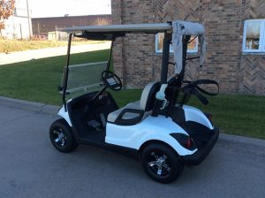 Glacier White Golf Car-Harris Golf Cars-Iowa, Illinois, Wisconsin, Nebraska