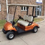 Atomic Orange Golf Car-Harris Golf Cars-Iowa, Illinois, Wisconsin, Nebraska